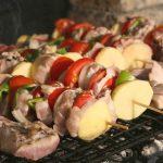 brochette carne vegetales