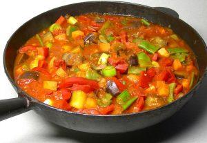 Pisto Manchego, plato tradicional de la cocina española