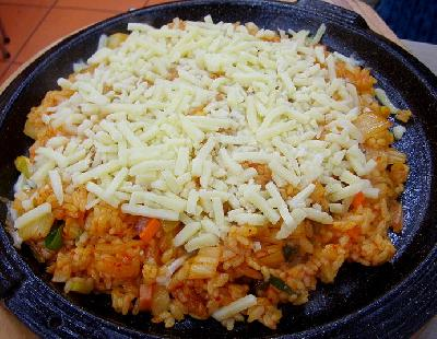 plato de arroz con queso