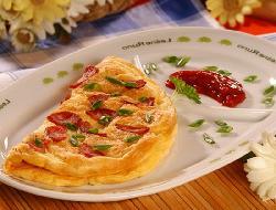Omelette con panceta (bacon)