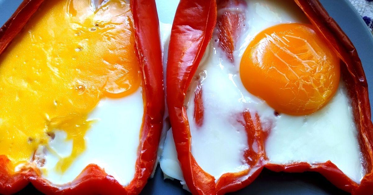 morron con huevo