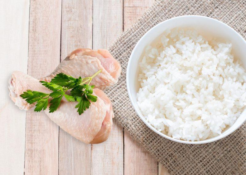 Budín de pollo con arroz