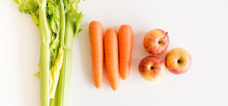 apio zanahoria manzana